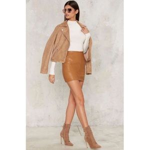 Nasty Gal Faux Leather Skirt